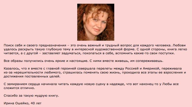 Отзыв Ирины Ошейко на роман Дорога к Призванию