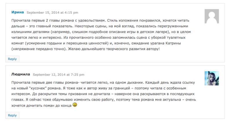 Отзыв Ирины и Людмилы на роман Дорога к Призванию