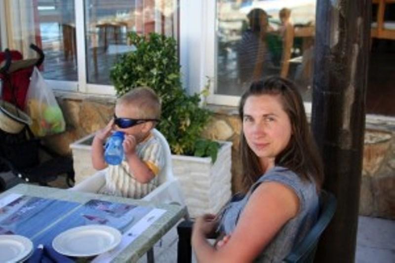 Екатерина Паньи с сыном